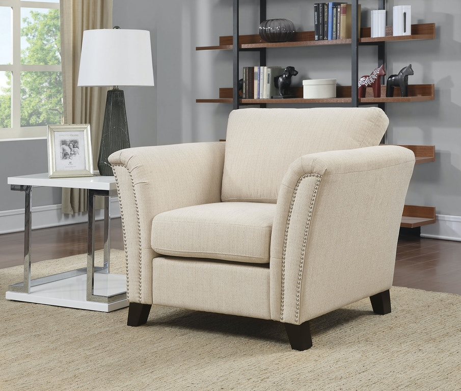 Furniture Of America Living Room Chair Ivory Cm6095iv Ch At The Mall
