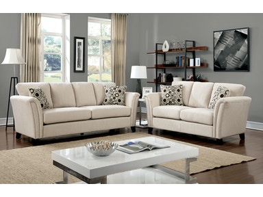 Furniture of America Sofa, Ivory CM6095IV-SF