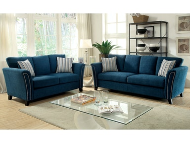 Furniture of America Sofa, Dark Teal CM6095TL-SF