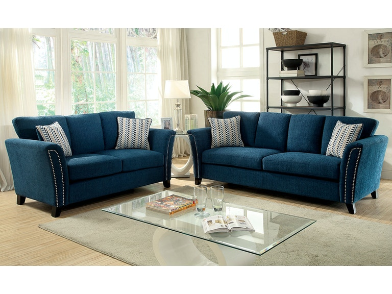 Furniture Of America Sofa Dark Teal Cm6095tl Sf