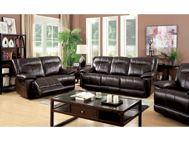 Furniture of America Sofa, Brown CM6128BR-SF