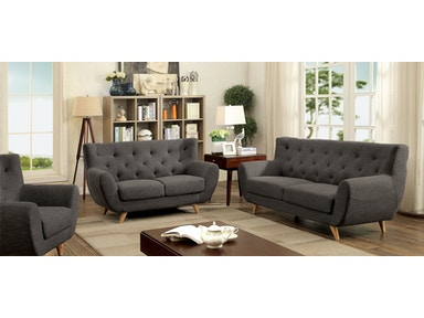 Furniture of America Sofa, Gray CM6134GY-SF