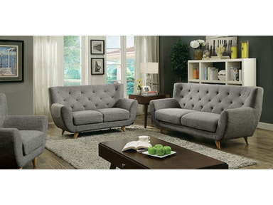 Furniture of America Sofa, Light Gray CM6134LG-SF