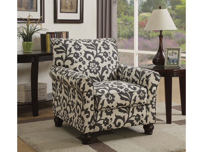 Furniture of America Living Room Accent Chair, Floral