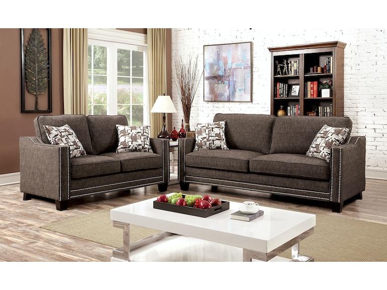 Sofa, Brown Chenille