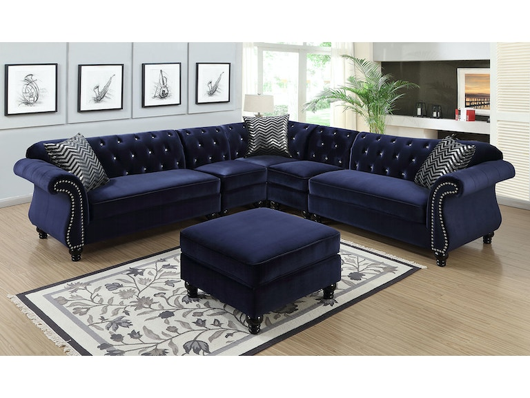 Sectional, Blue