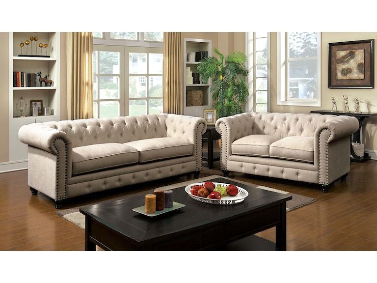 Furniture Of America Sofa Ivory Cm6269iv Sf