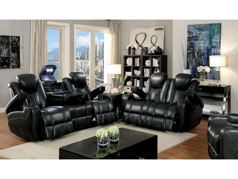 Furniture Of America Sofa W 2 Recliners Cm6291 Sf