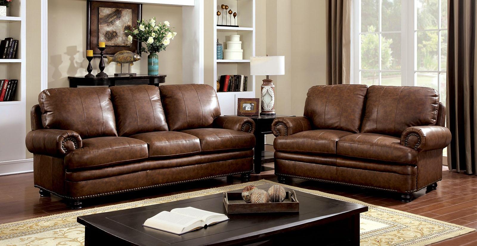 Gentil Furniture Of America Love Seat, Brown CM6318 LV