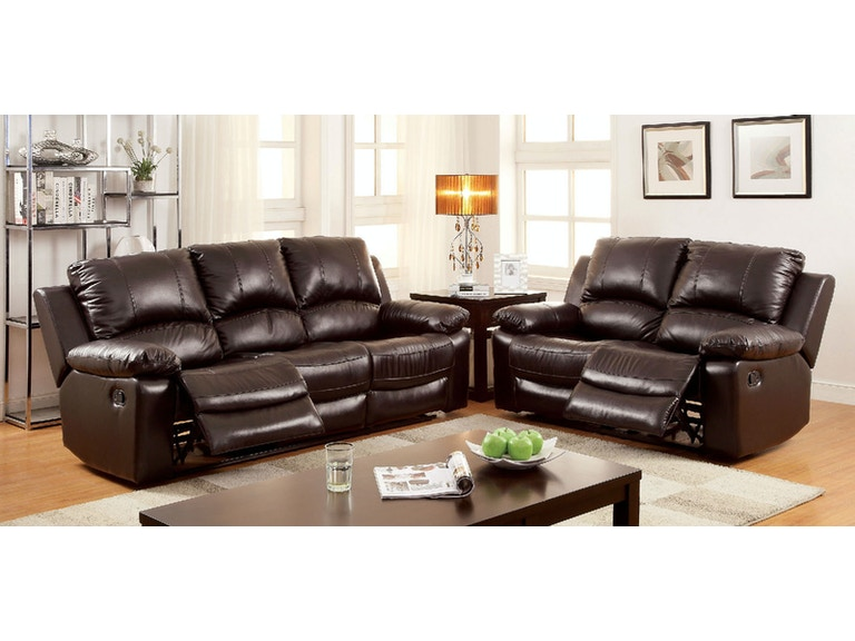 Motion Sofa w/ Top Grain Leather Match