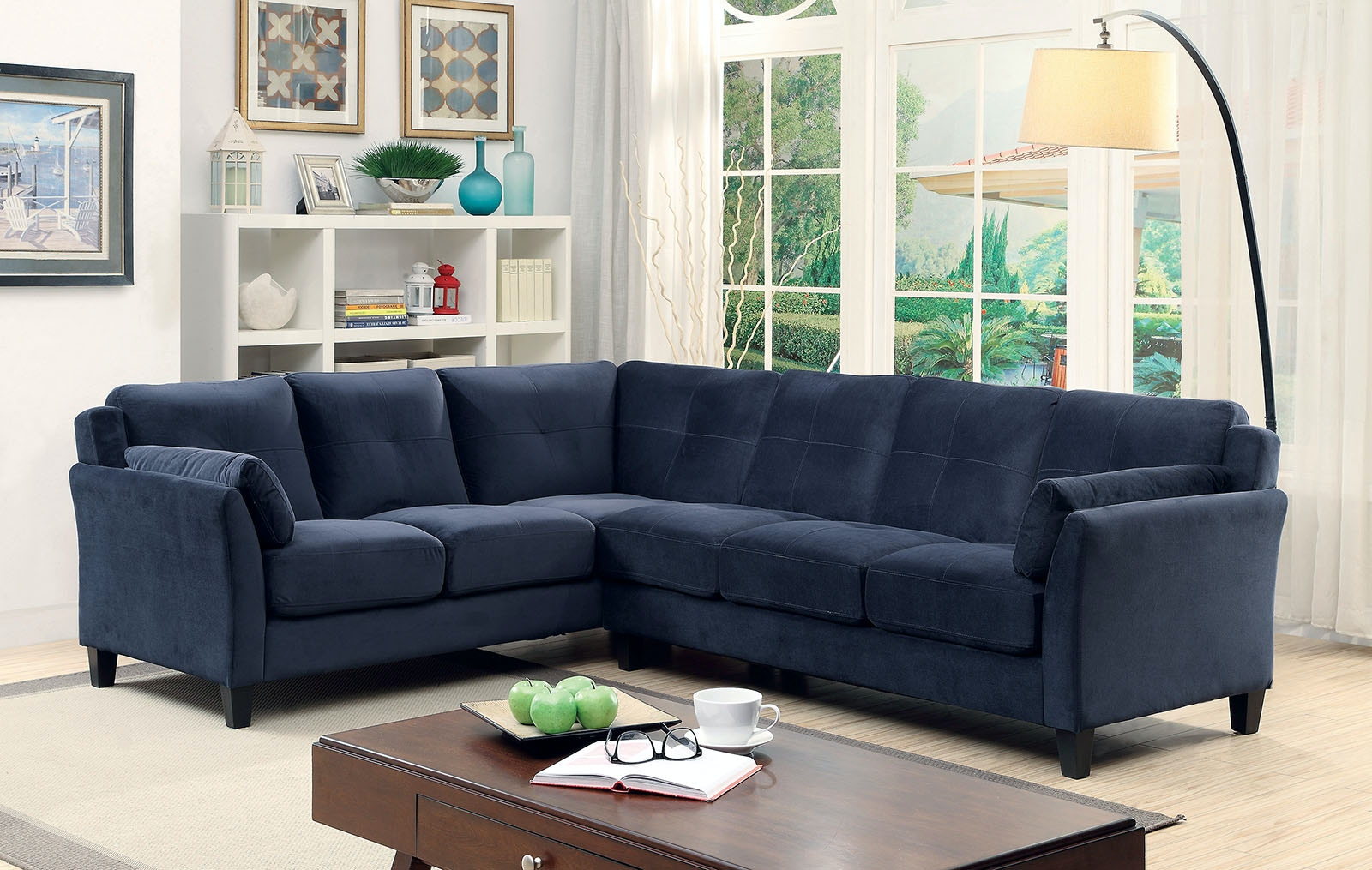Furniture Of America Living Room Sectional Navy Cm6368nv Sectional