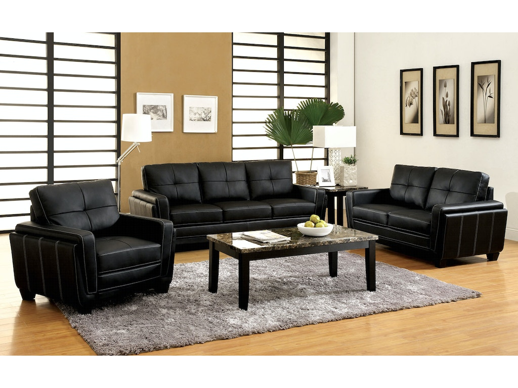 Furniture of america living room sofa love seat cm6485 2pc the furniture mall duluth for 4 chair living room arrangement