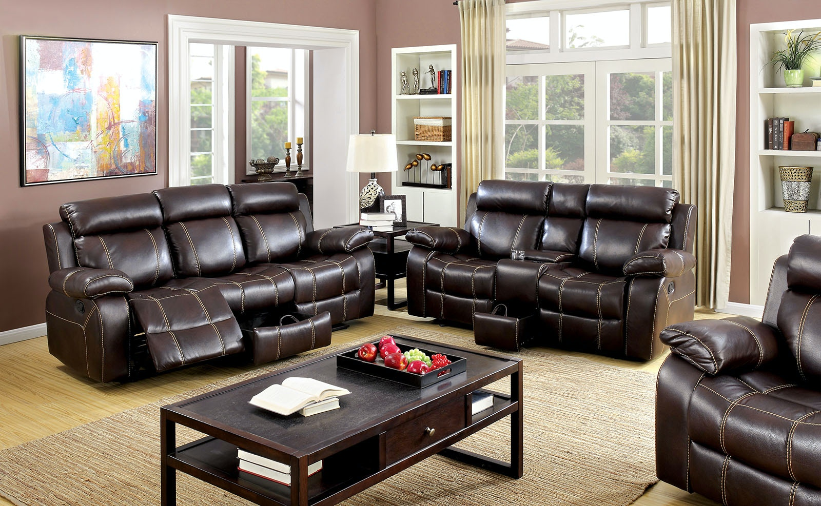 Furniture Of America Living Room Sofa W/ Storage Drawer CM6788 SF At The  Furniture Mall