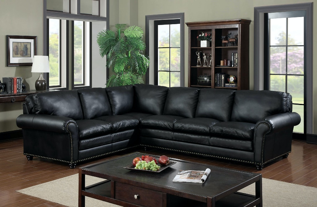 Sectional W Bonded Leather Match