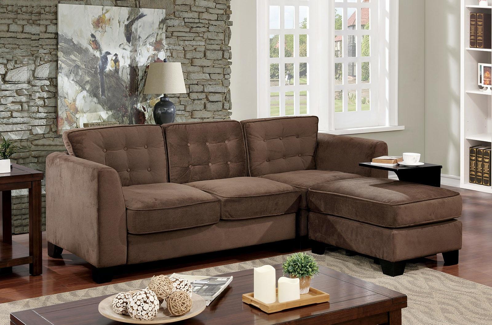 Furniture Of America Sofa + Ottoman + Side Table CM6862 SET