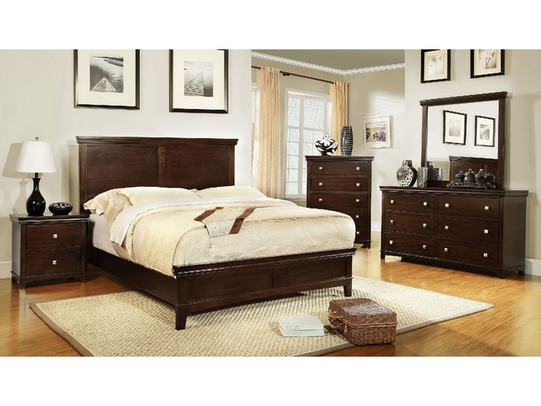 Furniture Of America Bedroom Queen Bed 1ns Dresser Mirror