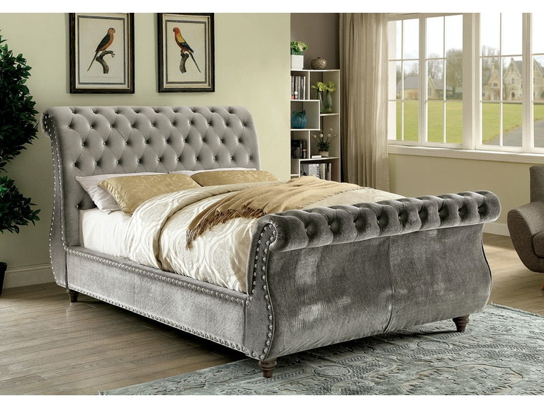 Furniture Of America Bedroom Cal King Bed Gray Cm7128gy Ck Bed