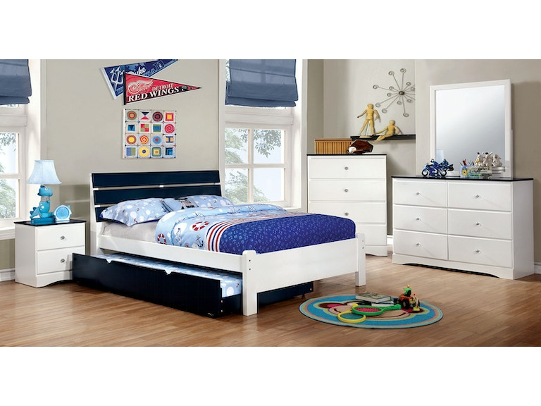 Furniture Of America Bedroom Twin Bed Headboard Footboard Cm7626bl