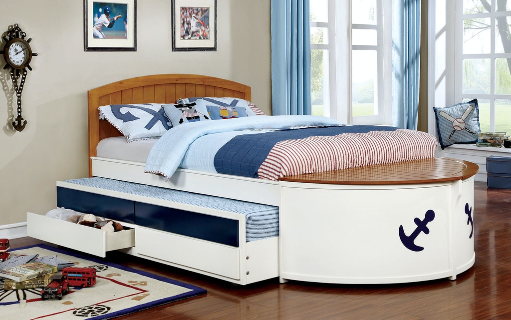 Full Bed W Trundle Drawers