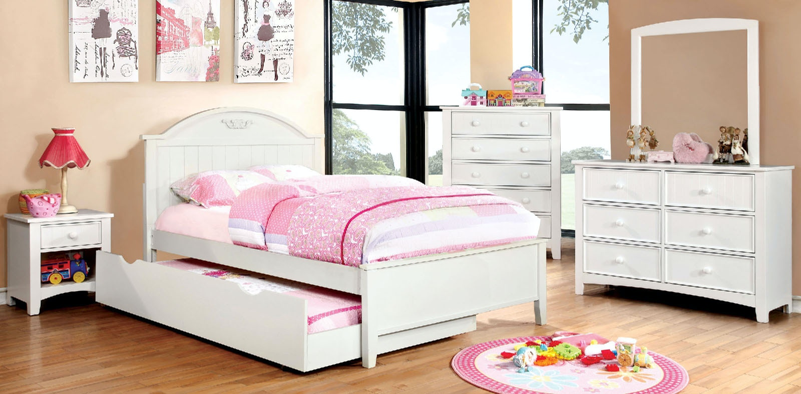 Furniture Of America Bedroom Twin Bed CM7942WH T BED At The Furniture Mall