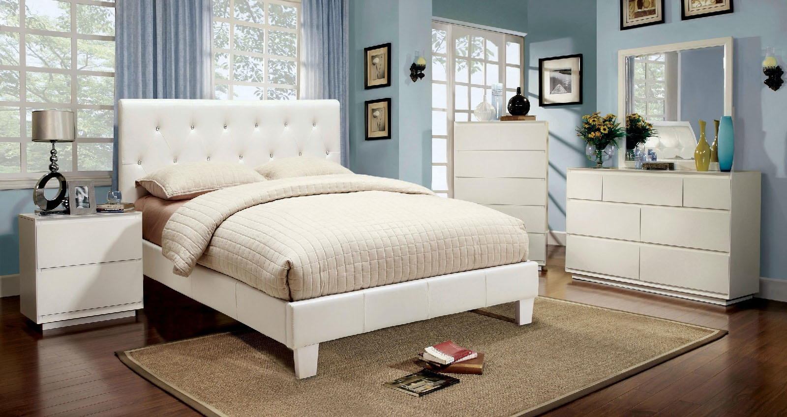 Furniture Of America Bedroom Twin Bed, White CM7949WH T BED At The Furniture  Mall