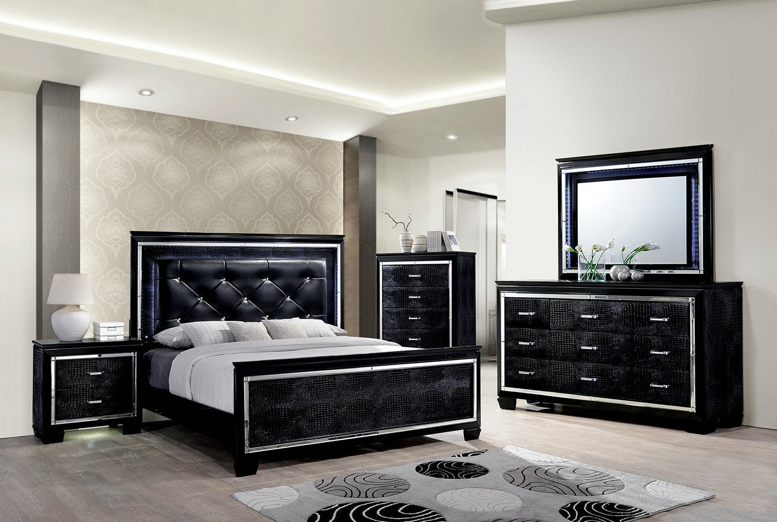 Furniture Of America Bedroom Cal King Bed Headboard Cm7979bk Ck Hb The Furniture Mall Duluth