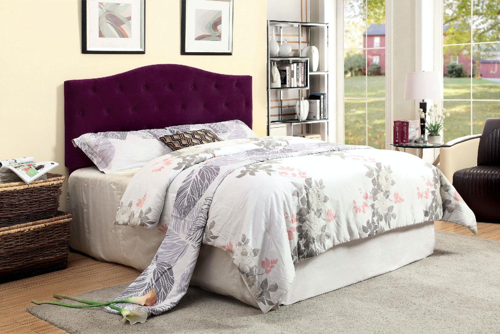 compatible furniture. Furniture Of America Queen (Full Compatible) Headboard, Purple CM7989PR-HB-FQ Compatible S