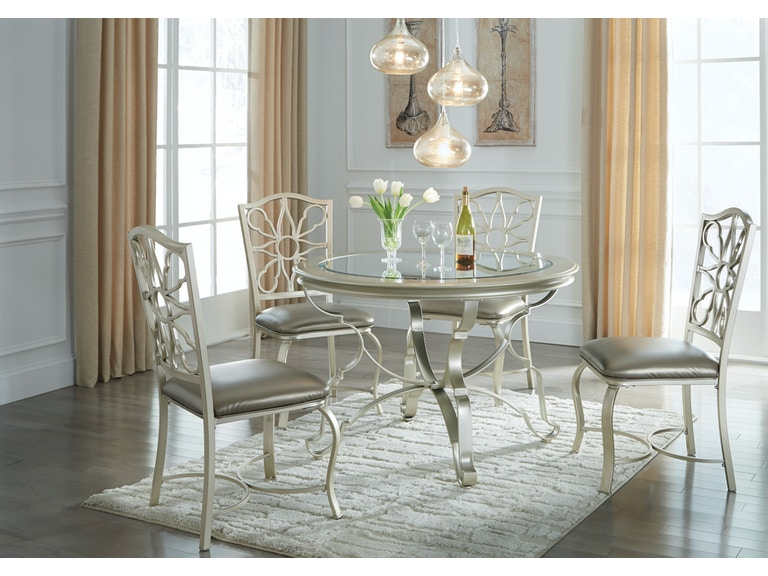 Signature Design by Ashley Dining room table and (4) side chairs ...