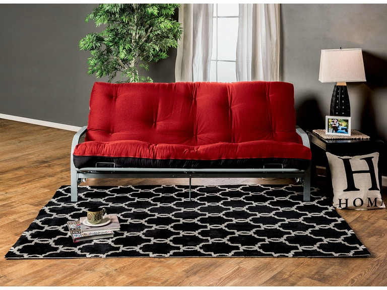 Furniture Of America 8 Red Black Futon Mattress Fp 2415br
