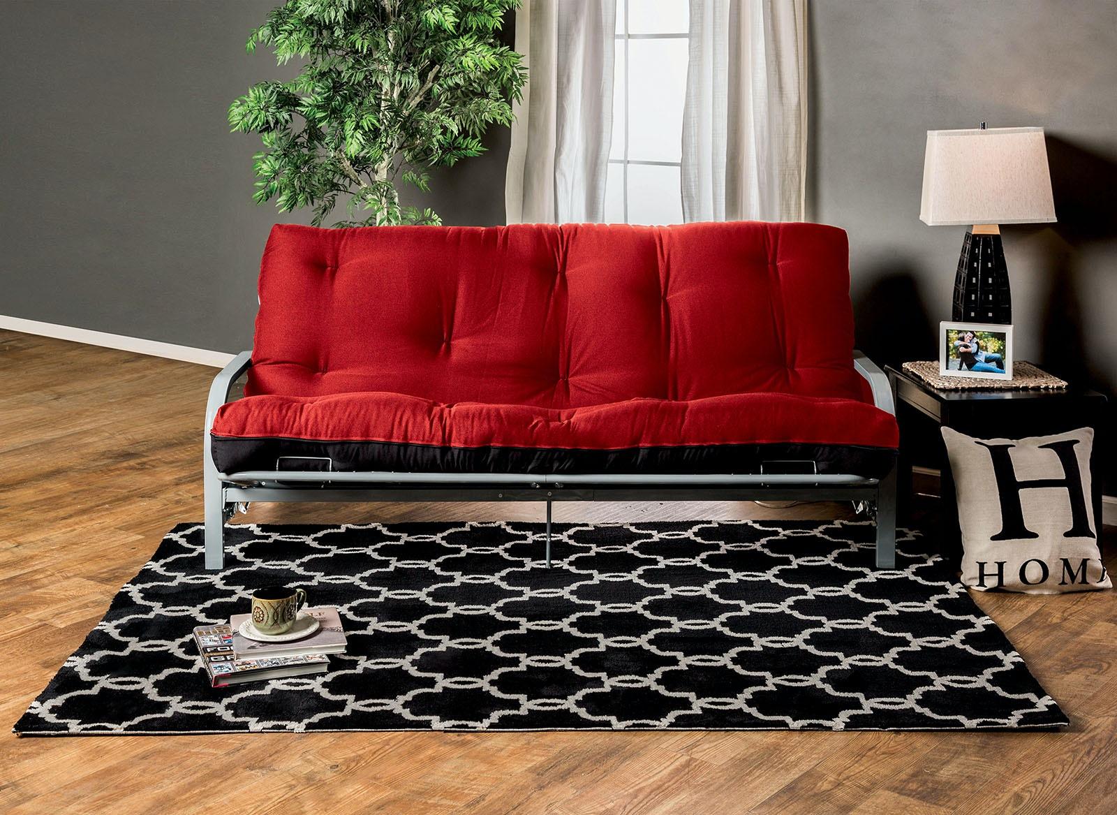 Furniture of America 8 Red/Black Futon Mattress FP-2415BR