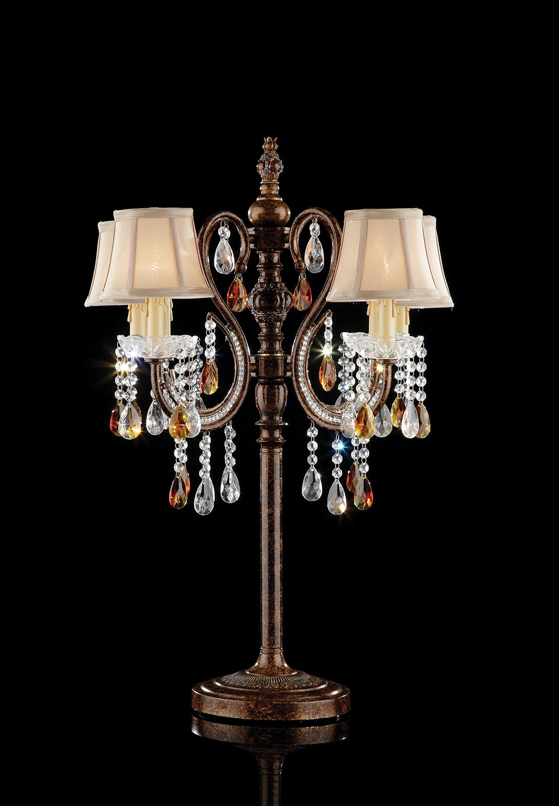 Ordinaire Furniture Of America Lamps And Lighting Table Lamp, Hanging Crystal L95113T  At The Furniture Mall