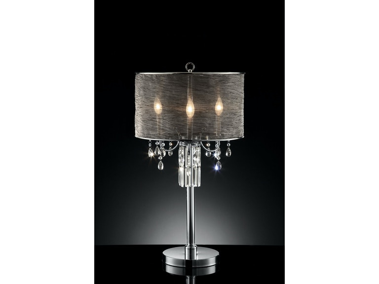 Furniture Of America Table Lamp Hanging Crystal L95127t