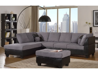 Master Furniture Living Room Two Tone Grey Sectional Sofa