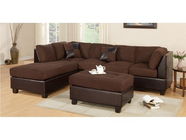 Master Furniture Two-tone chocolate sectional sofa. 2325