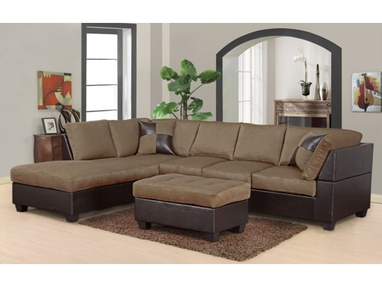 Master Furniture Living Room Two Tone Tan Sectional Sofa 2326 The