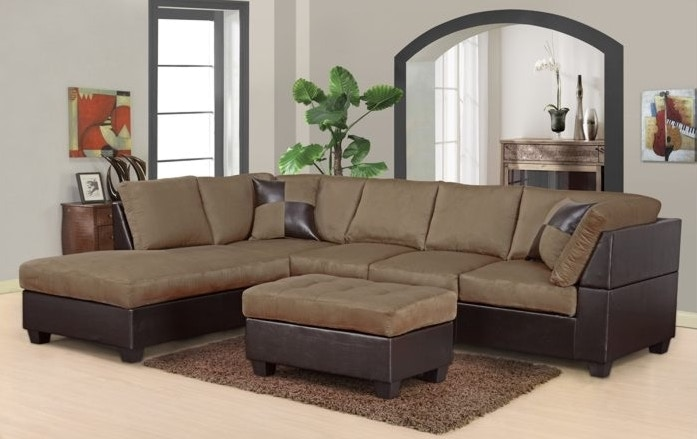 Master Furniture Two-tone Tan Sectional Sofa 2326  sc 1 st  The Furniture Mall : two tone sectional - Sectionals, Sofas & Couches