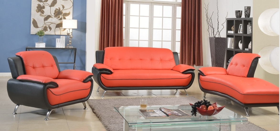 Image of: Red Furniture Living Room Throughout 8160 Red And Black Piece Living Living Room Sets The Furniture Mall Duluth