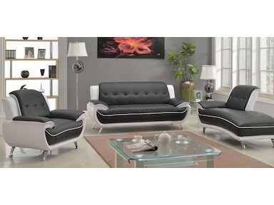 Master Furniture White And Black 3 Piece Living Room Set As Shown 8161
