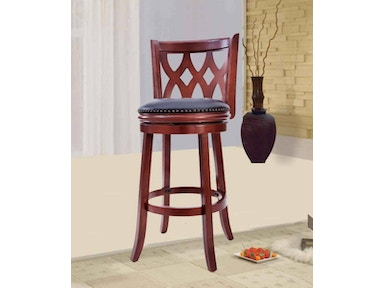 "Pacific Imports 24"" Cherry Barstool 6566"