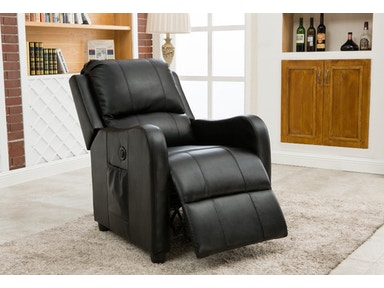 Pacific Imports Black Powered Recliner PI8486BK