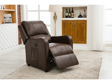 Pacific Imports Brown Powered Recliner PI8486ESP