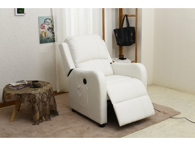 Pacific Imports White Powered Recliner PI8486WH