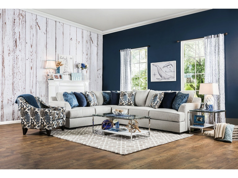 Furniture Of America Living Room Fortune Raf Sofa Sectional Sm1111