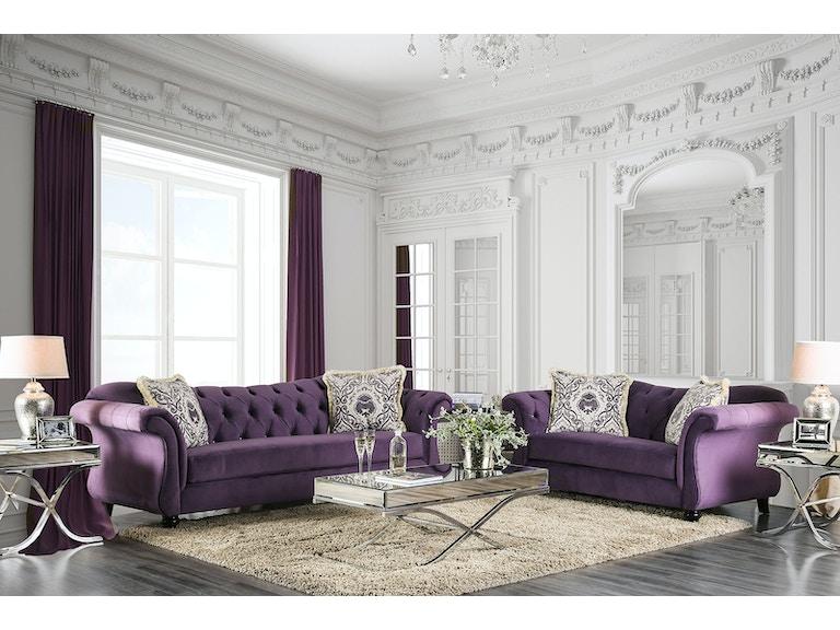 Living Room Sofa Purple Sm2222 Sf