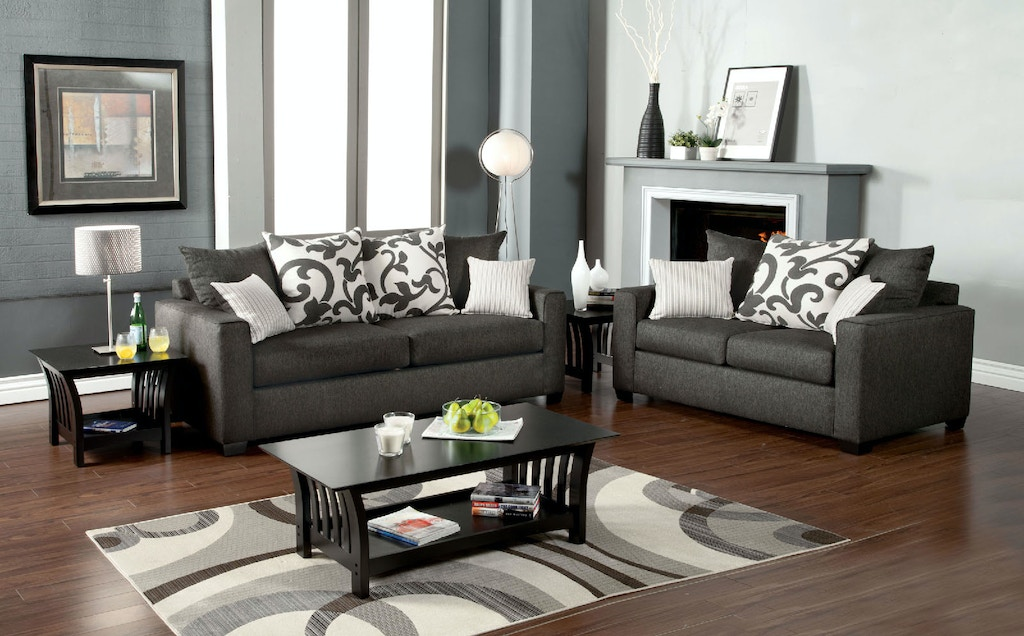 Furniture Of America Living Room Sofa Charcoal Sm3010 Sf The
