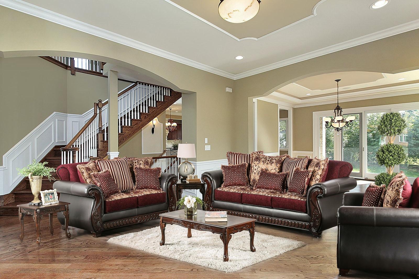 Great Furniture Of America Sofa, Burgundy SM6107N SF