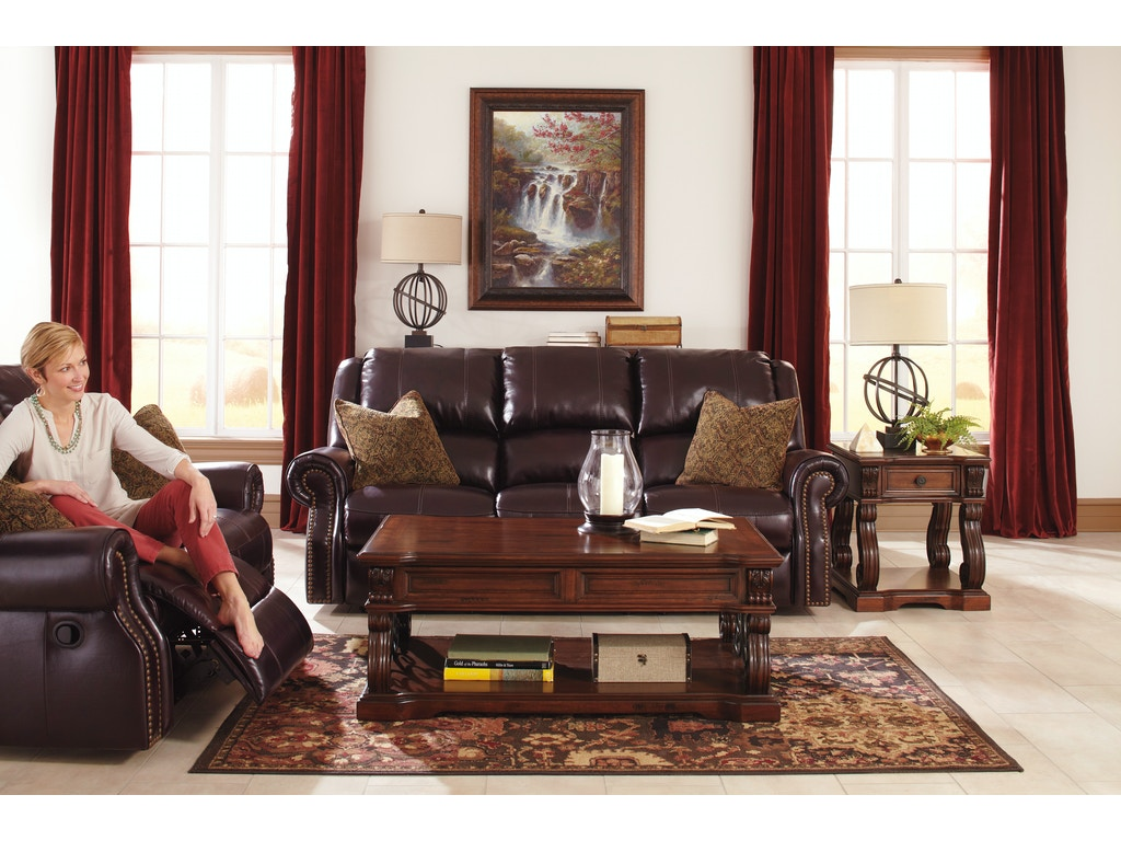 Signature Design By Ashley Walworth 2pc Leather Motion Living Room Set U78002st The Furniture