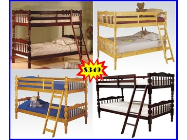 Starlite Pine Twin/Twin Bunk Bed Set (upper right) WDBBSET2