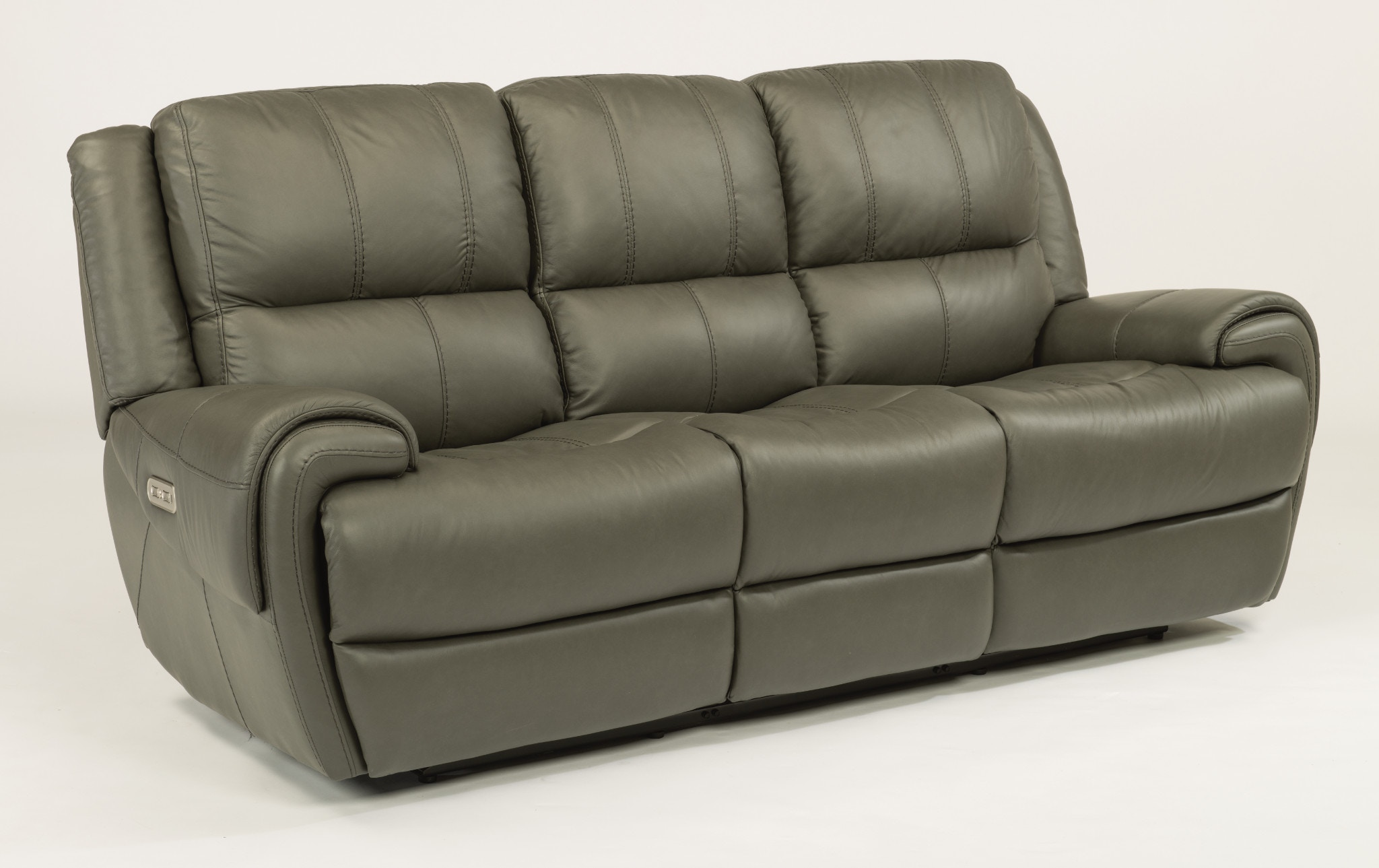 Flexsteel Leather Sofa W Adjustable Headrest 156708