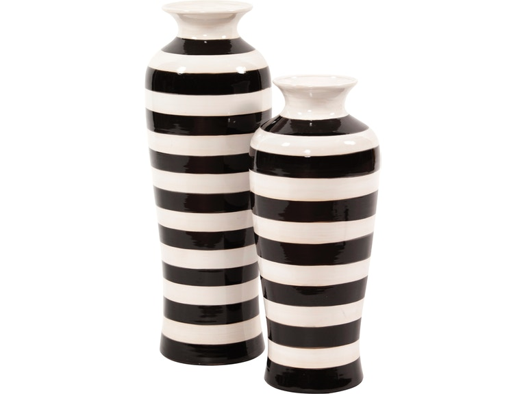 Howard Elliott Living Room Striped Vase 9903 Decor Interiors